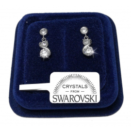 Earrings p.luce infinito donna pl. 18K white gold with SW / 17 Swarovski crystals