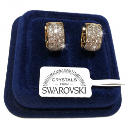 Diana Cerchi Earrings man woman pl. 18K yellow gold genuine swarovski crystals