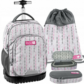 ORIGINAL Paso set - Super Resistant Large Trolley Backpack is capacious XXL Unique series FOR UNISEX MASCHIO and FEMALE KIDS