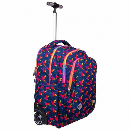 nuovo concetto 2b40f 4868a St.Right Raimbow Birds Zaino Trolley Scuola Elementare Media per Ragazza  Bambina - LaTuaPreferita - T.B.Technology