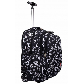 St.Right XD Black Trolley Elementary School Medium Trolley for Boy Girl