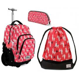 Oh My Pop! Cuzco Lama set Backpack Trolley 35L Sports Bag Girl School Bag