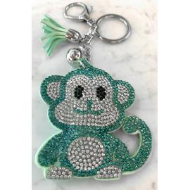 Scimmia Monkey Portachiavi,Morbido Ciondolo per Borsa Zaino da donna Verde