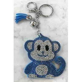 Scimmia Monkey Portachiavi,Morbido Ciondolo per Borsa Zaino da donna Blu Chiaro