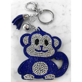Scimmia Monkey Portachiavi,Morbido Ciondolo per Borsa Zaino da donna Blu Scuro