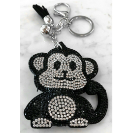 Monkey Monkey Keychain, Soft Pendant for Bag Women's Backpack black