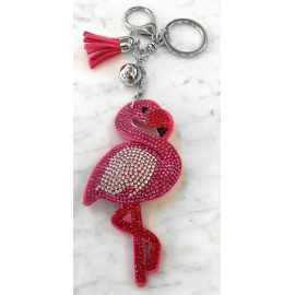 Fenicottero Flamingo Portachiavi,Morbido Ciondolo Borsa Zaino da Donna Fucsia