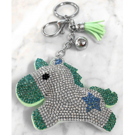Unicorn 3D Keychain, Soft Pendant Women's Backpack Bag green