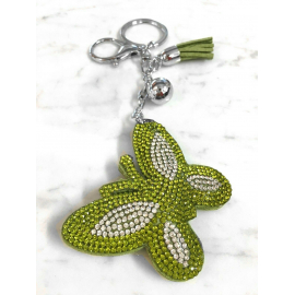 Butterfly 3D Keychain, Soft Pendant Women's Backpack Bag green