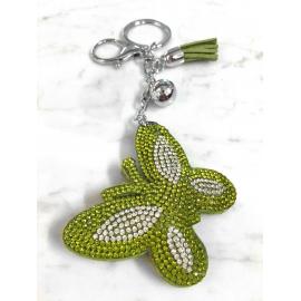 Farfalla Portachiavi 3D ,Morbido Ciondolo Borsa Zaino da Donna Verde