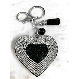 Small Heart 3D Keychain, Soft Pendant Women's Backpack Bag