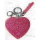 Heart Plate Keychain 3D, Soft Pendant Bag Women's Backpack blue