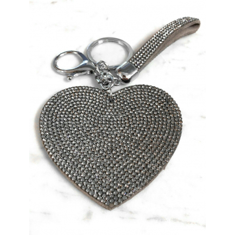 Heart Plate Keychain 3D, Soft Pendant Bag Women's Backpack blue