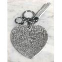 Heart Plate Keychain 3D, Soft Pendant Bag Women's Backpack white