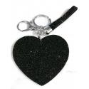 Heart Plate Keychain 3D, Soft Pendant Bag Women's Backpack black