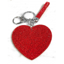 Heart Plate Keychain 3D, Soft Pendant Bag Women's Backpack red
