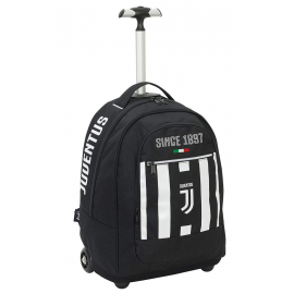 Big Trolley Juventus Coaches, 29 Lt, Black and White, Retractable Shoulders, School & Travel