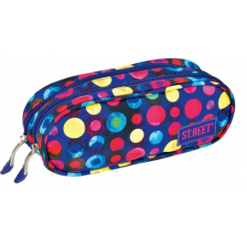 Two zippered pencil case ST.REET Pois school original