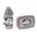 Love Horses White Horse Breakfast Set Snack Box, Automatic Bottle