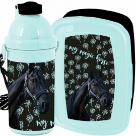 My Magic Horse Horse Breakfast Set Storage Box, Automatic Bottle