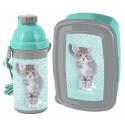 Kitty Cat Blue New Breakfast Set Storage Box, Automatic Bottle