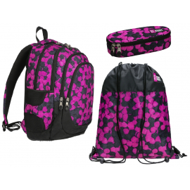 Mate Child Girl Unicorno Set 6p Zaino Scuola,Astuccio 3 zip,Diario,set Merenda