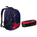 St.Right FLAMES set Backpack 42x33x20cm, Case, Sports School Bag Girl
