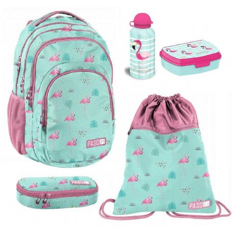 SET school backpack Sweet Kitty Cat Pink original Paso