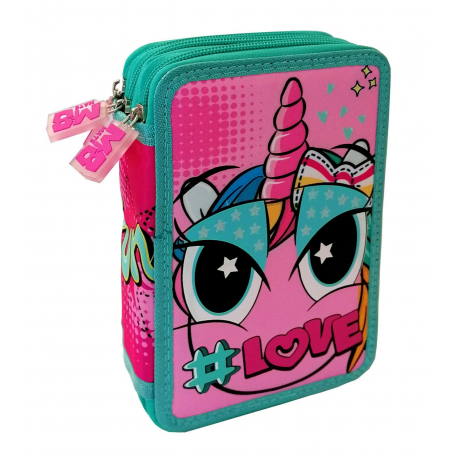 Mate Child Girl Unicorn Backpack TROLLEY Elementary School Girl Child