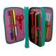 Case 3zip Three-storey Accessory Mate Child Girl Unicorn Elementary school