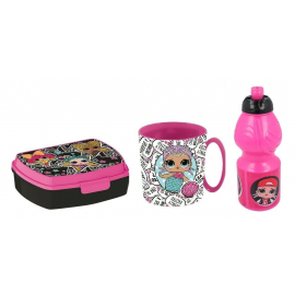 Lol Surprise Breakfast Set, Storage Box + Bottle + Cup, School, Kindergarten, Children