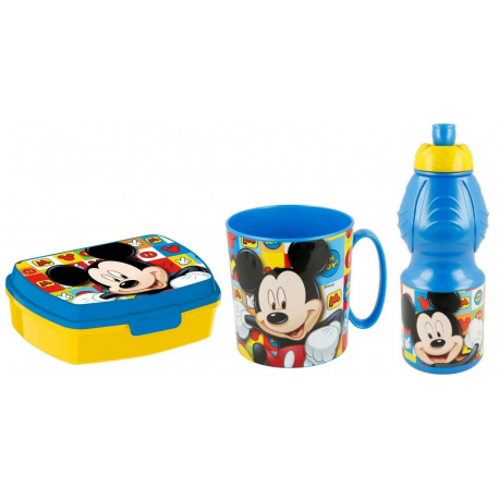 Batman Breakfast Set, Storage Box + Bottle + Cup, School, Kindergarten, Children