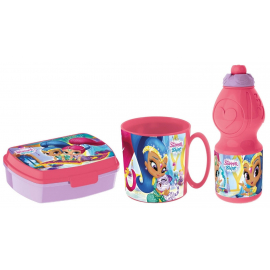 Shimmer and Shane Breakfast Set, Storage Box + Bottle + Cup, School, Kindergarten, Children