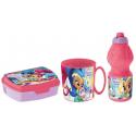Shimmer and Shane Breakfast Set, Storage Box + Bottle + Cup, School, Kindergarten, Children