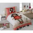 Gorjuss Single Bed Duvet Cover Set 140x200 + Pink Doll Pillowcase