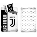 Juventus Black and White 3 Pieces Set Single Bed Duvet Cover, Pillowcase, Bed Linen Corners