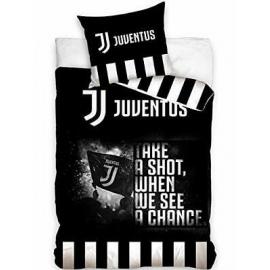 Juventus Pennellato 3 Pezzi Set Letto Singolo Copripiumino,Federa,Lenzuola Angoli