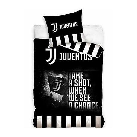 Lenzuola Matrimoniali Juventus.Juventus Nero 2 Pezzi Set Lenzuola Letto Singolo Copripiumino
