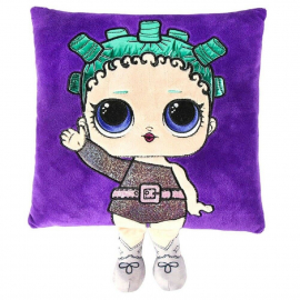 LOL Surprise Cuscino con Bambola Applicazione Ricamata 30x30cm Rosa