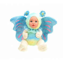 BeBe Plush Butterfly Doll with Glitter Wings 23cm Color Blue