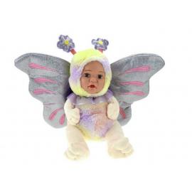 Bambola Farfalla Peluche BeBe con Ali Glitter 23cm Colore Viola