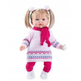 NINES D'ONIL Newborn Doll 45 cm TITA Perfumed Tricot + Pacifier Dress Pink