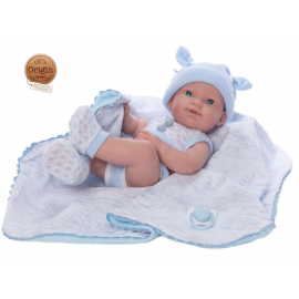 NINES D'ONIL Newborn Doll 37 cm Articulated Mi Scented Baby Cover Pacifier Boy