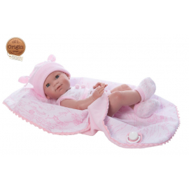 NINES D'ONIL Newborn Doll 37 cm Articulated Mi Scented Baby Cover Pacifier Girl
