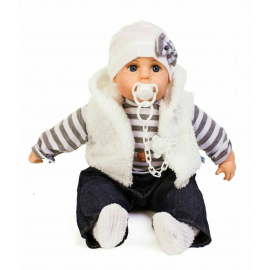 Doris Newborn Doll 45 cm + Soft Body Pacifier Boy