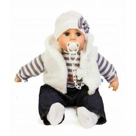 Doris Newborn Doll 45 cm + Soft Body Pacifier Boy