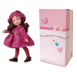 BERJUAN Fashion Doll 35cm Boutique red with curls in Box, Original