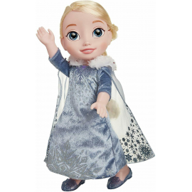 Disney Princess Doll, 35 cm Frozen Elsa, Dress with Glitter