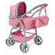 S.Toys Large Pram Stroller For Dolls Combi 8-function Game Blue Bow