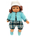 Marty Doll 40 cm with Sounds Finger in Mouth Infant game Little Girl in Box, brown